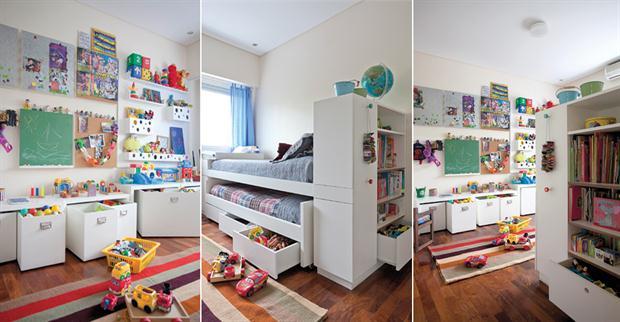 Dormitorio ideas para optimizar el espacio cocinas - Biblioteca madera blanca ...