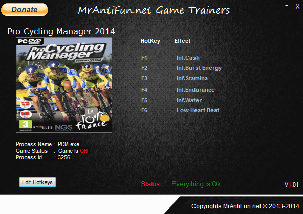 Pro Cycling Manager 2014 V1.3 Trainer +6 MrAntiFun