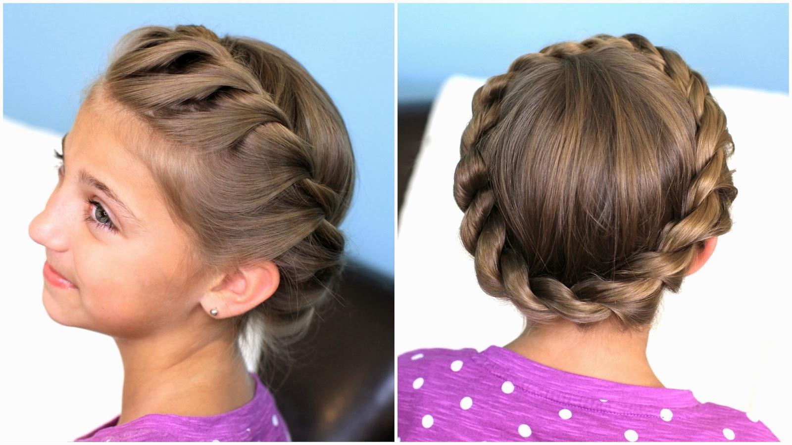 Прическа для девочки из длинных волос
