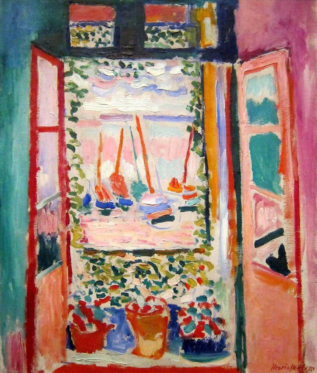 Henri Maisse - Fenêtre ouverte,Collioure 1905.