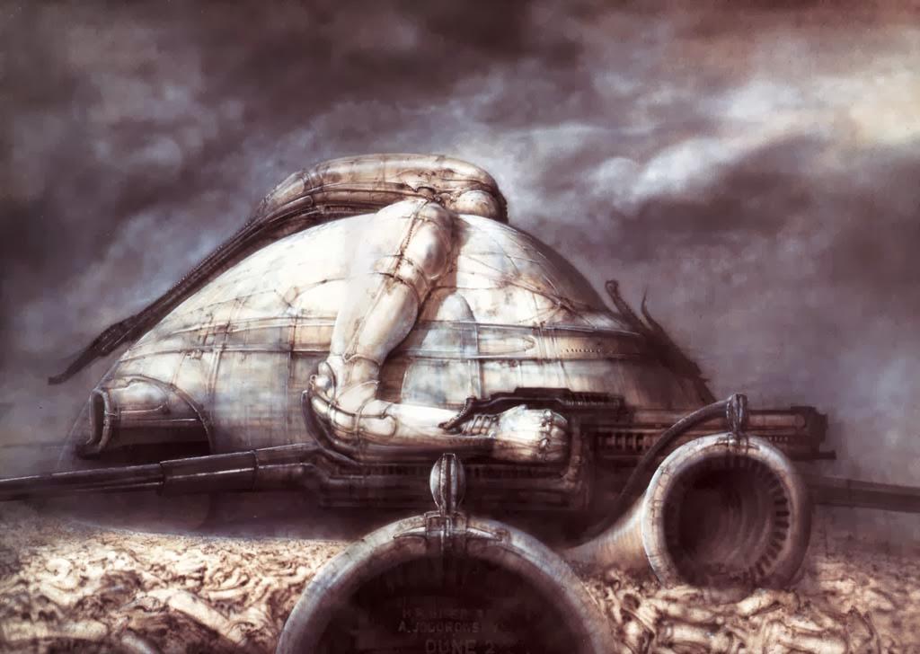 H. R. Giger's Harkonnen art for Jodorowsky's Dune