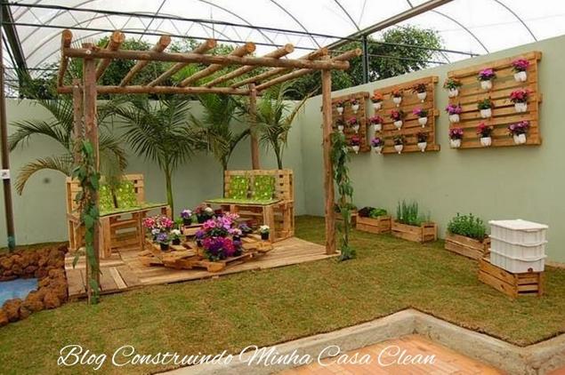 jardim vertical latas:Construindo Minha Casa Clean: Decoração da Área Externa! Veja Quais