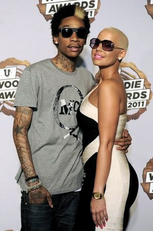 wiz khalifa amber rose tongue. wiz khalifa amber rose engaged