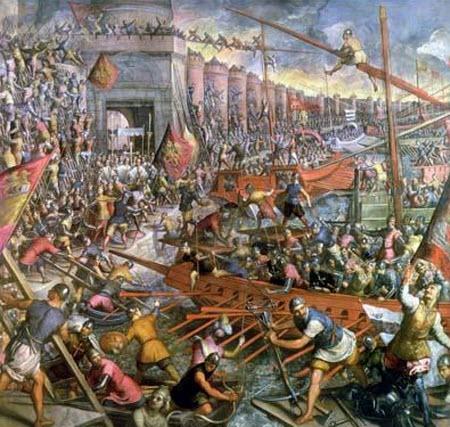 En qué siglo cayó Constantinopla, dando fin a la edad media?