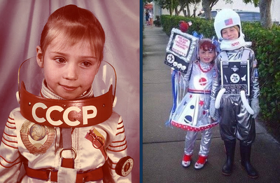Astronauts as children