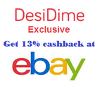Get 13% cashback on all your purchases at eBay