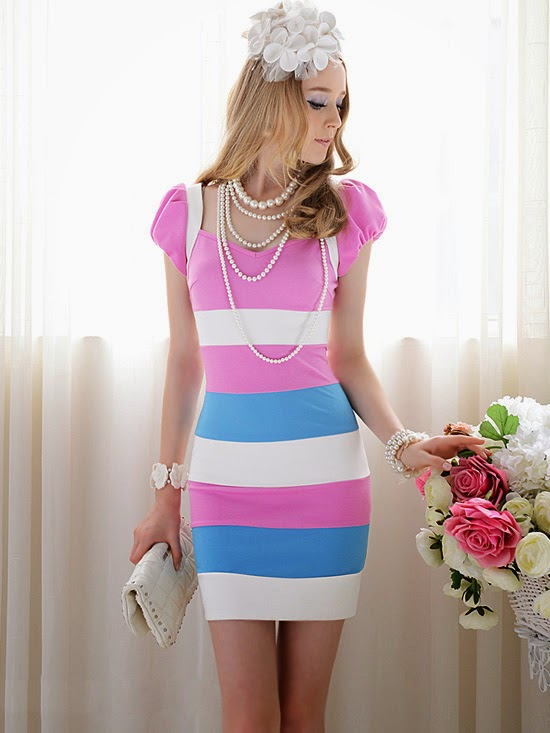 http://www.koees.com/koees-1512-Pink-visual-sense-multicolor-mosaic-dress.html