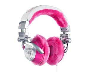 bentuk headphone yang funny ceria seperti bando kepala