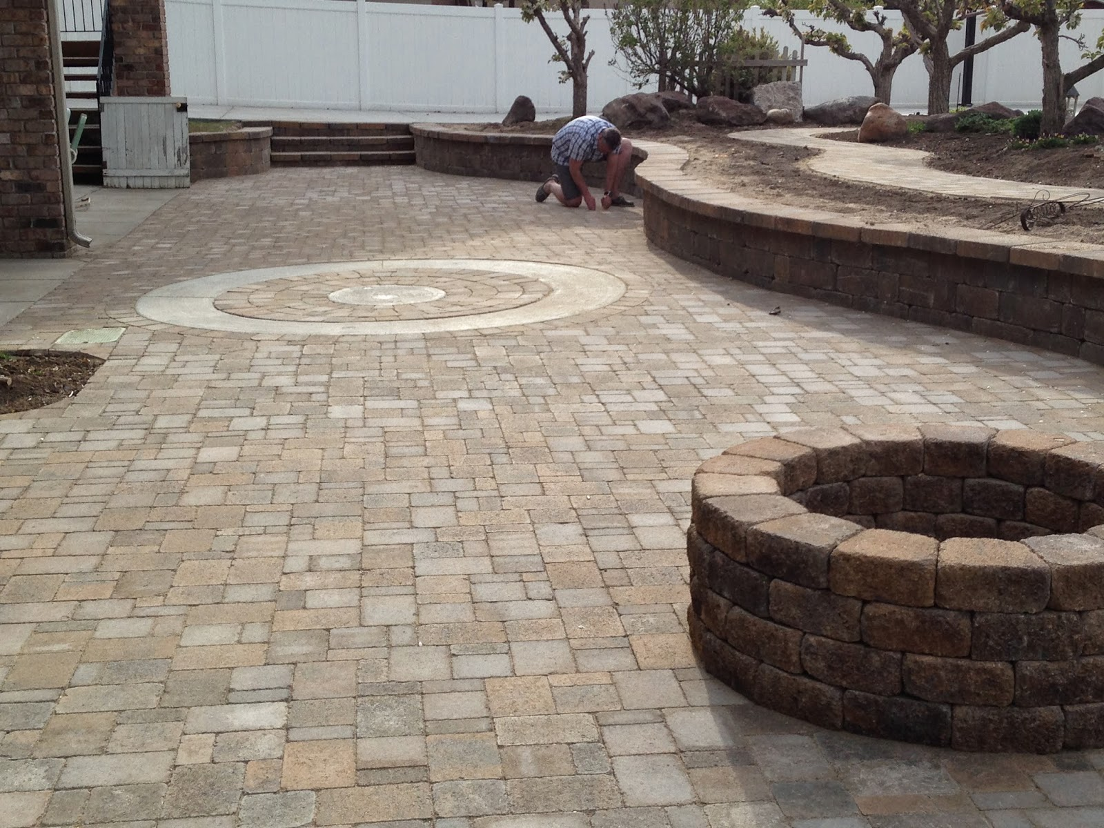 time of our lives backyard paver project and splash pad