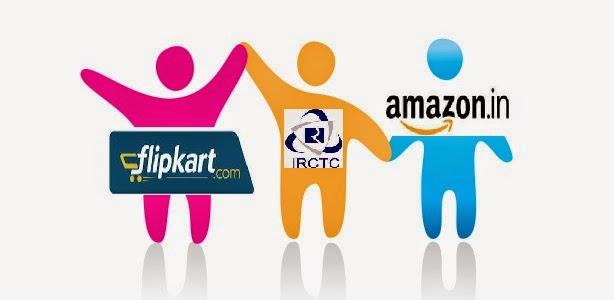 IRCTC Flipkart Amazon