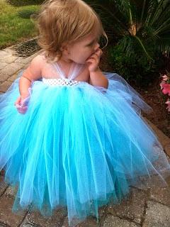 Model tutu dress elsa frozen untuk anak perempuan