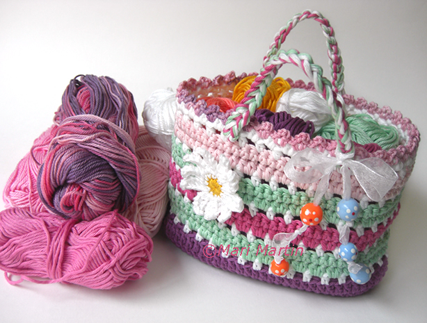 Crochet Bag Making : ... .etsy.com/listing/126634062/diy-pdf-pattern-crochet-bag-purse-daisy