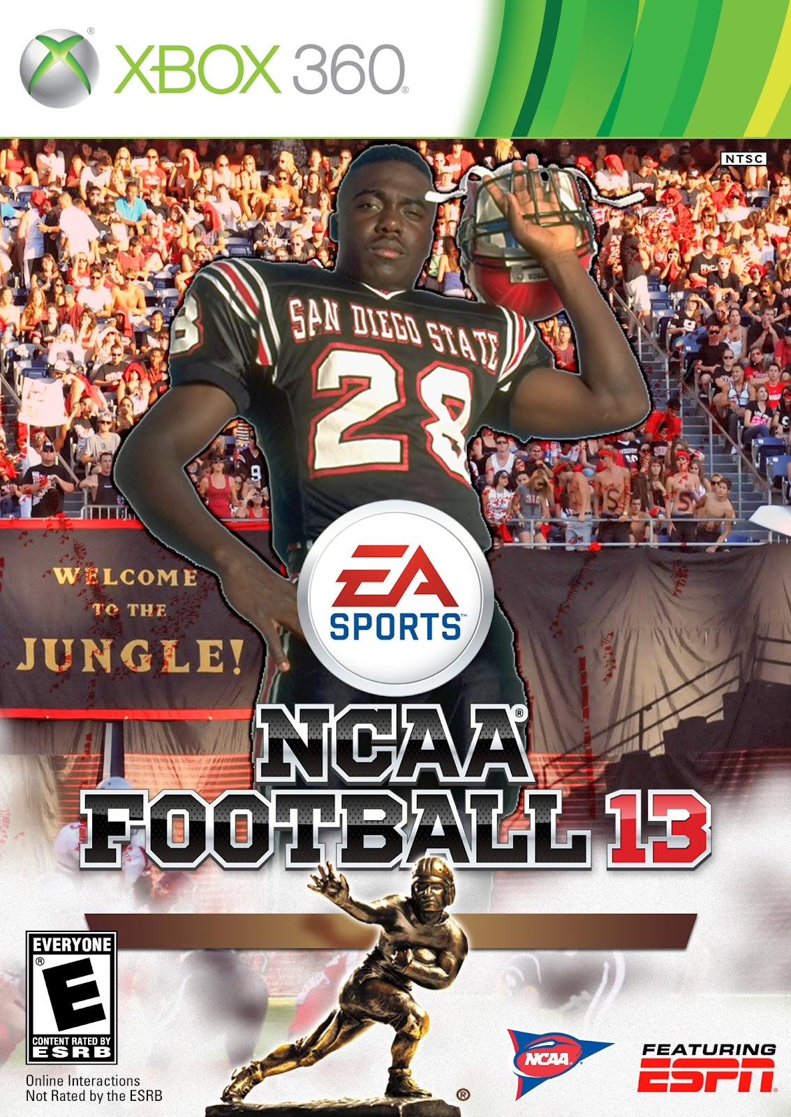 San Diego Football Network Custom Marshall Faulk Ncaa Football 13 Cover