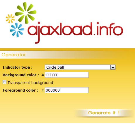 ajaxload Generator
