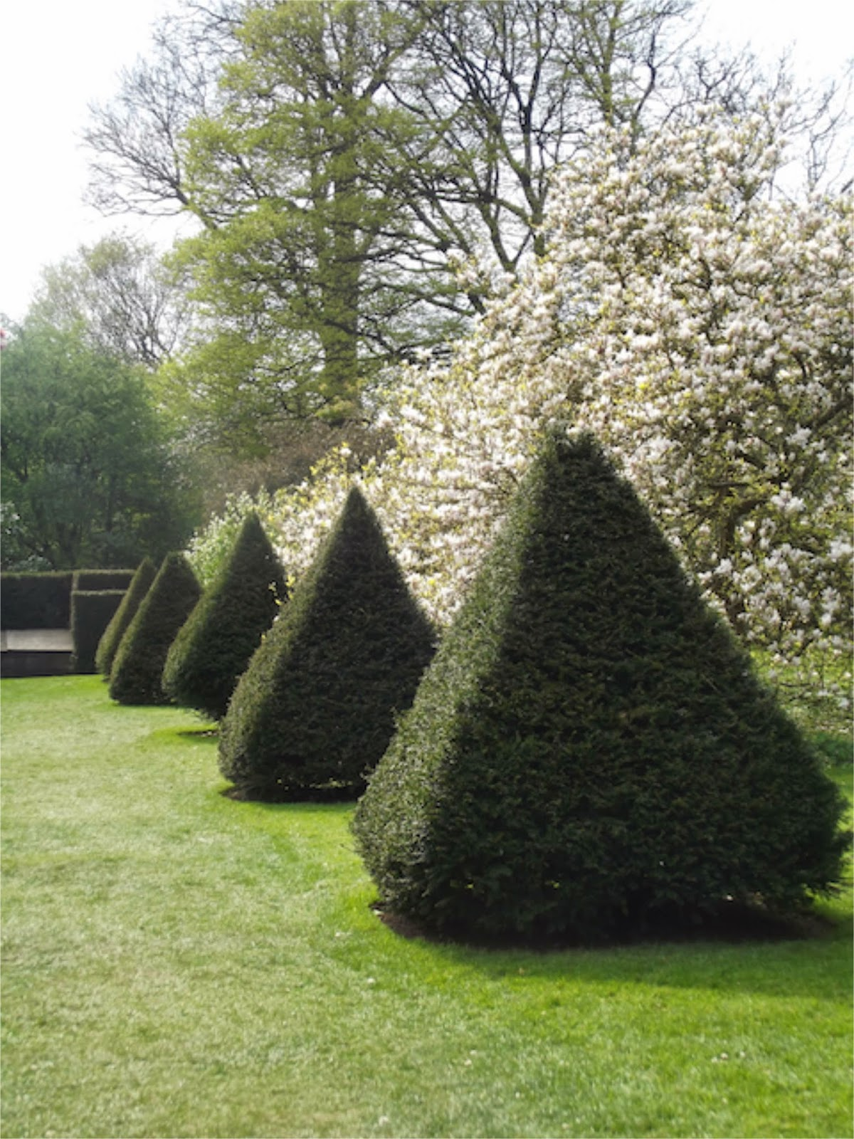 pyramids in Dutch garden at Sizergh Castle