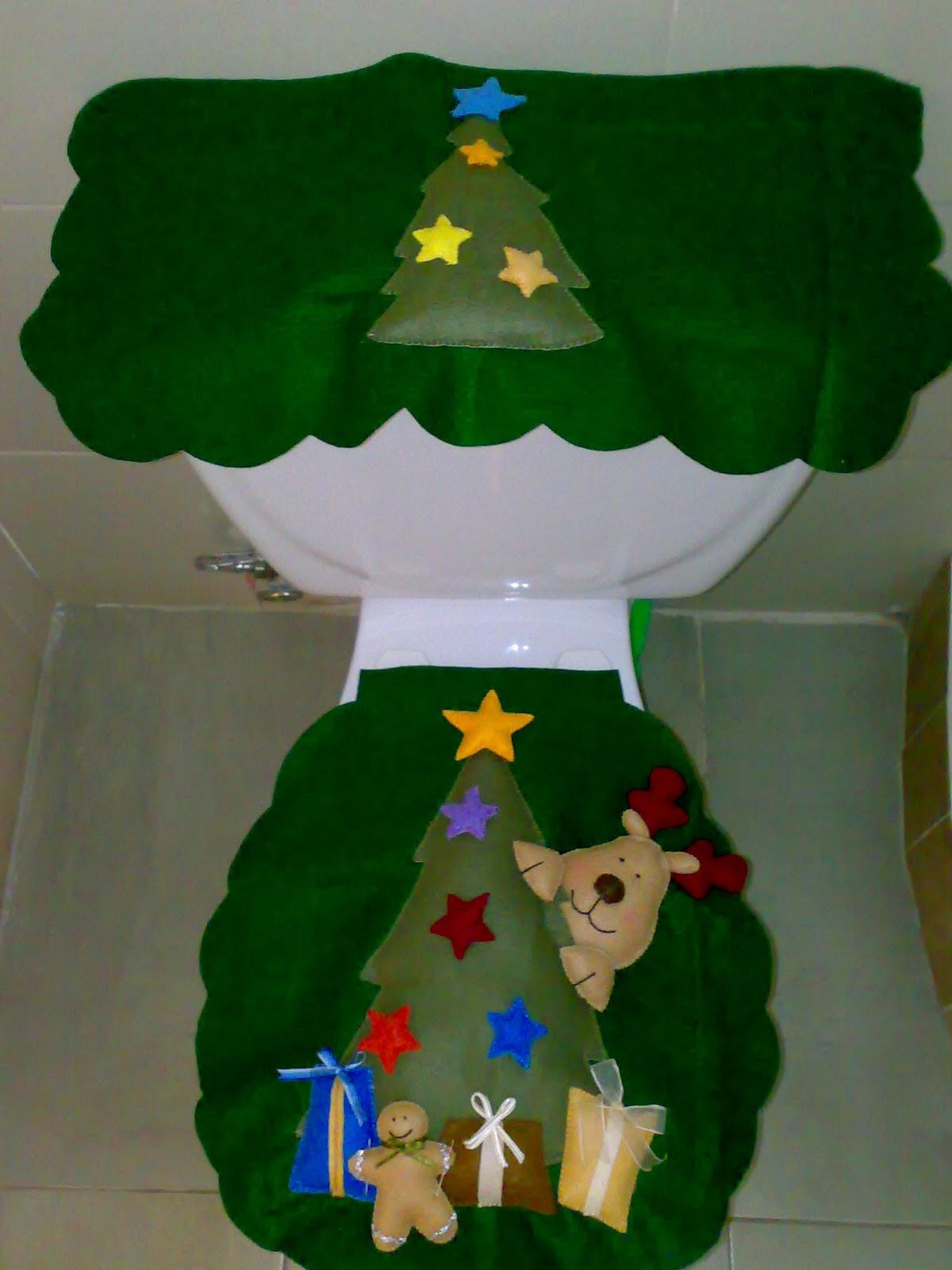 Imagenes De Juegos De Baño Fieltro:CREACIONES LUZMA: Juegos de baño Navidad en fieltro