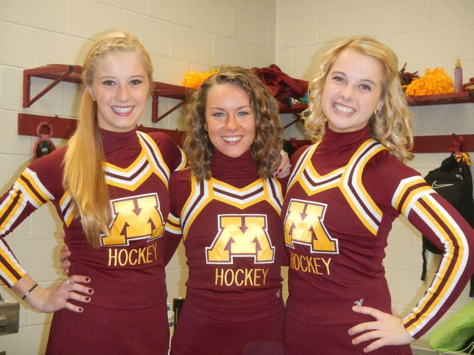 "Sexy Cheerleader ""Katie"" From Minnesota Hockey"