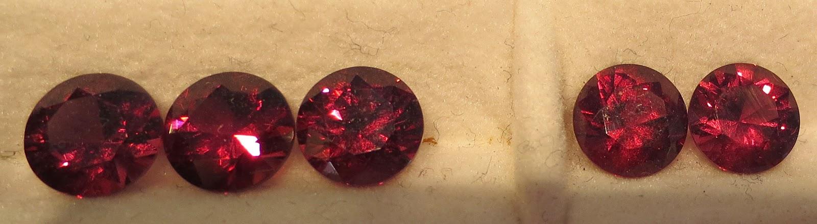 diamond cut rhodolite
