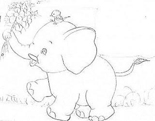 elefantes com flores e passaro