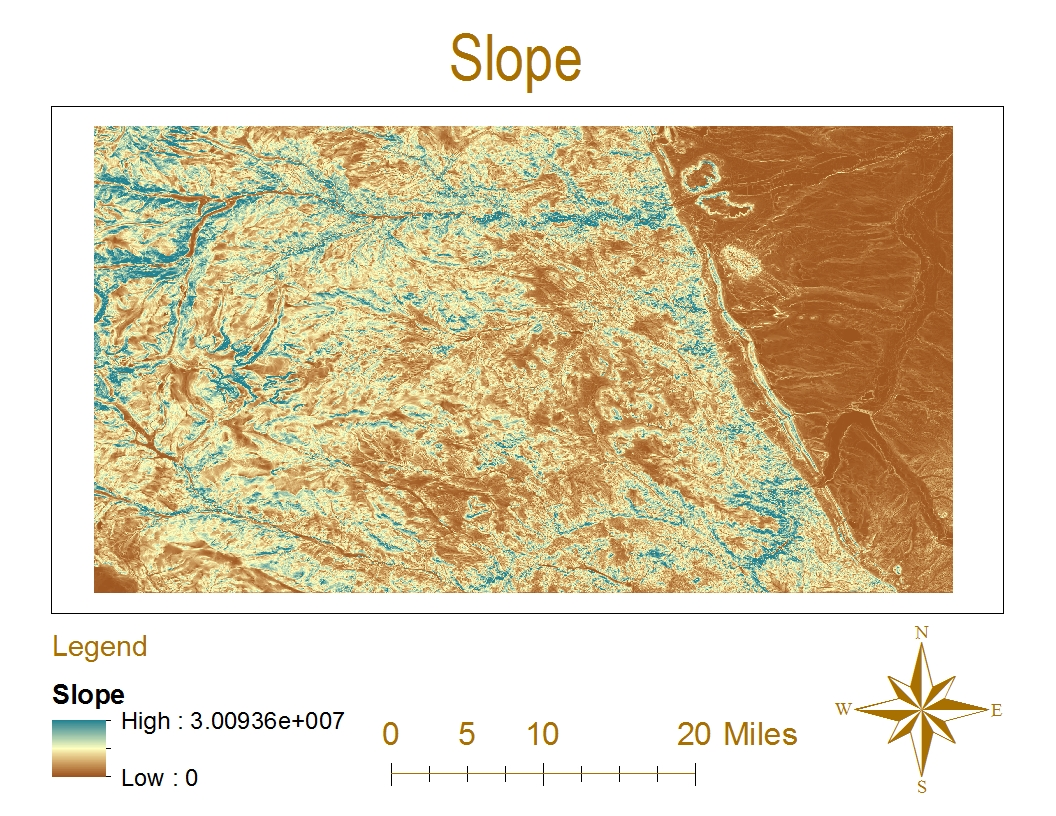 the above maps depict the hillshade slope aspect and 3d image of a specific geographic location the geographic region was previously chosen for this lab