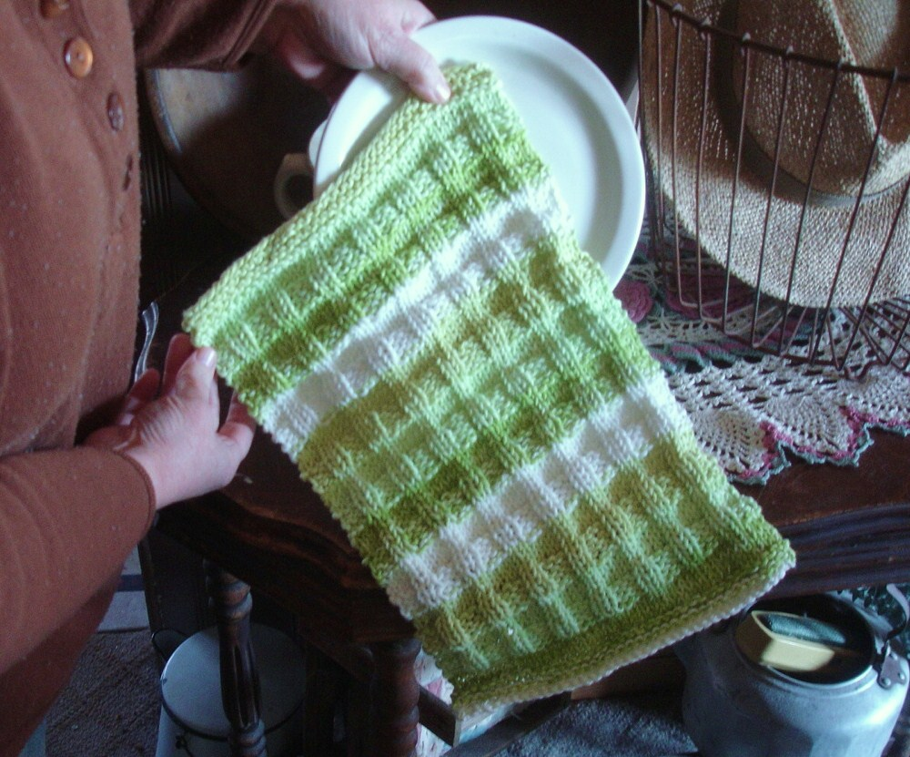 Knitted Cotton Dish Towel Pattern : Frugal Measures: Dish Towel