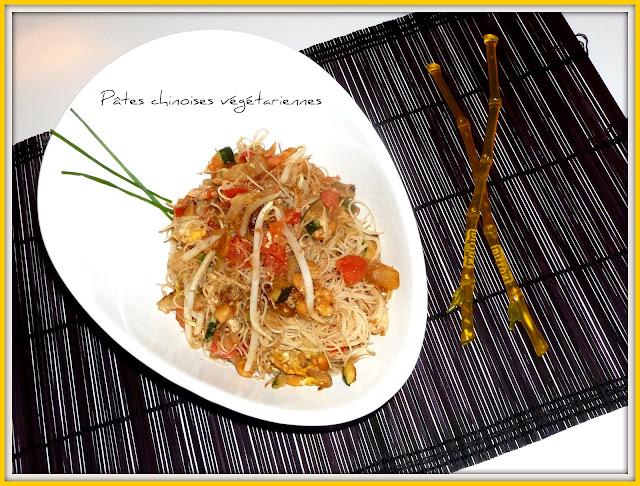 image Pâtes chinoises végétariennes