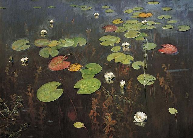 Isaac Ilitch Levitan water lilies