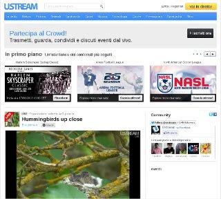 Il sito ustream.tv