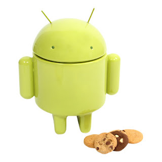 Android mascot cookie jar