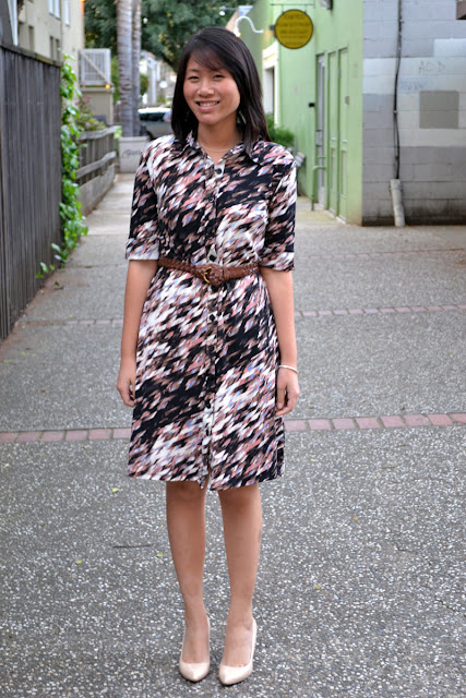 office fashion blogger sacramento angeline evans the new professional style and co shirt dress macys enzo angiolini pumps piperlime vintage braided belt
