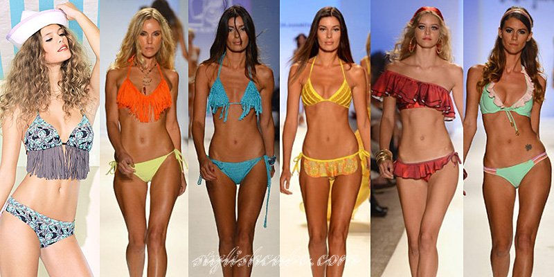 Swimsuit Trend: Cutouts Cutouts are another huge trend to come poolside for summer A cutout one-piece is a great mix of sexy and edgy, especially if you're not ready to bare it all in a bikini.