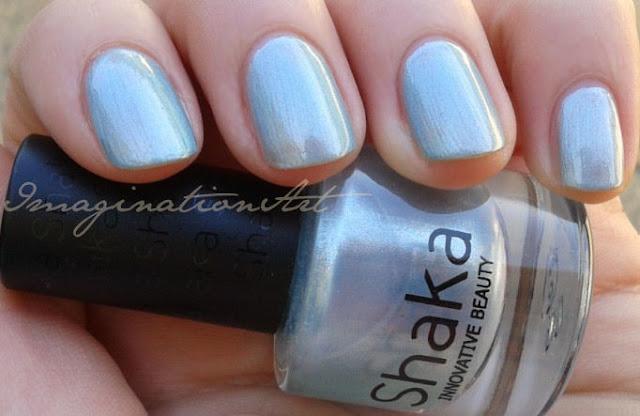 shaka icy blue 845 swatch swatches smalto nail polish unghie lacquer laquer review recensione celeste azzurro blu