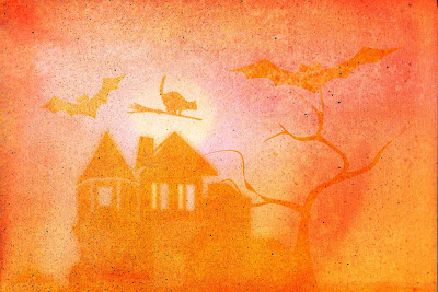 haunted house cat flying over