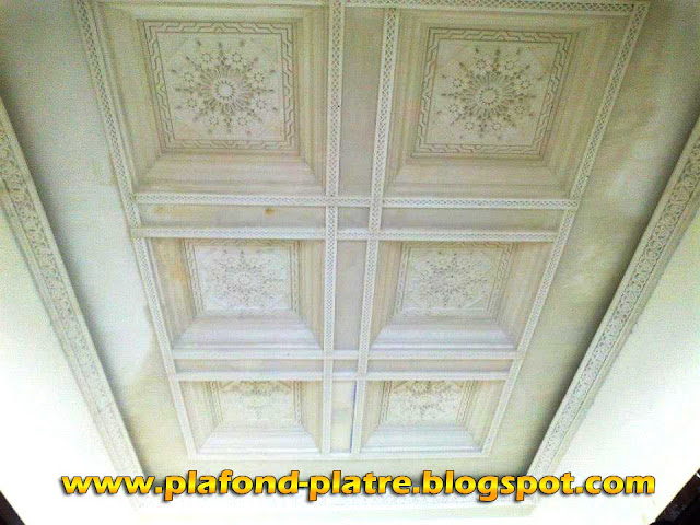 Plafond plâtre sculpté création Marocain 2013