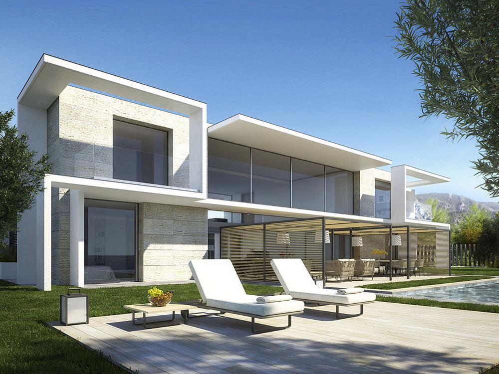 Visualizations of luxury villa in saint jean cap ferrat for Home rendering software