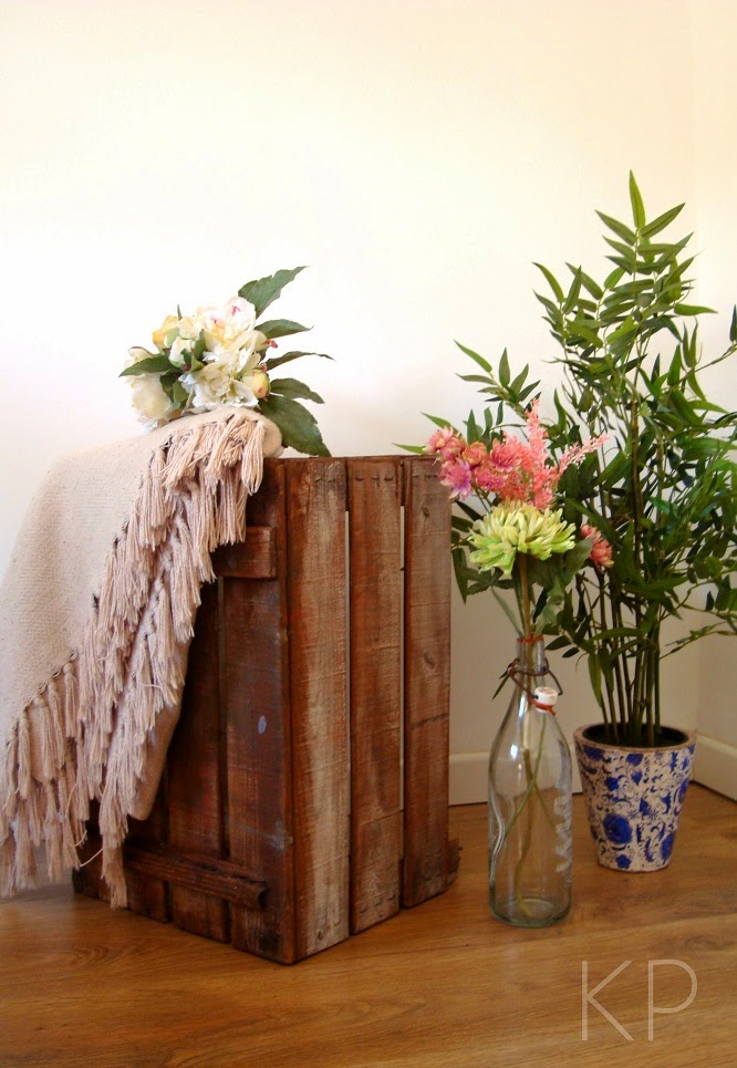 Kp tienda vintage online caja de madera vintage - Decorar cajas de fruta de madera ...