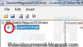 """Se pulsa en el + para mostrar el contenido del """"customUI""""."""