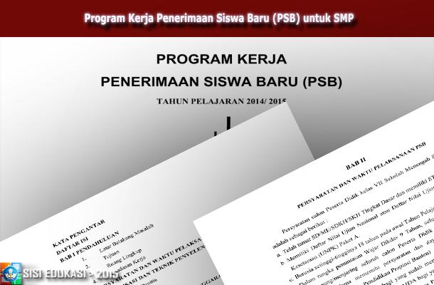 Program Kerja Penerimaan Siswa Baru (PSB) untuk SMP Download File DOC Microsoft Word