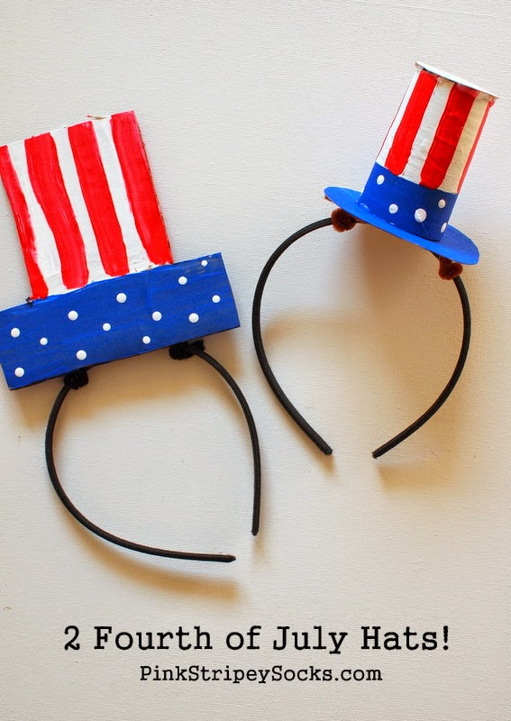 2 DIY Cardboard Fourth of July Hats