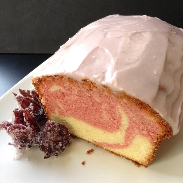 37 Cooks: Hibiscus Swirl Pound Cake
