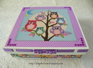 Caixa MDF decorada.