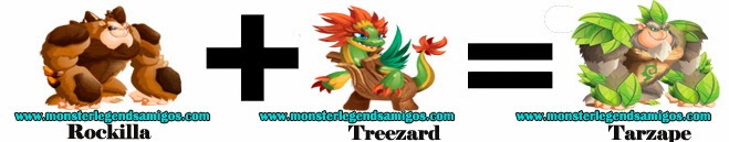como hacer el monster tarzape en monster legends formula 1