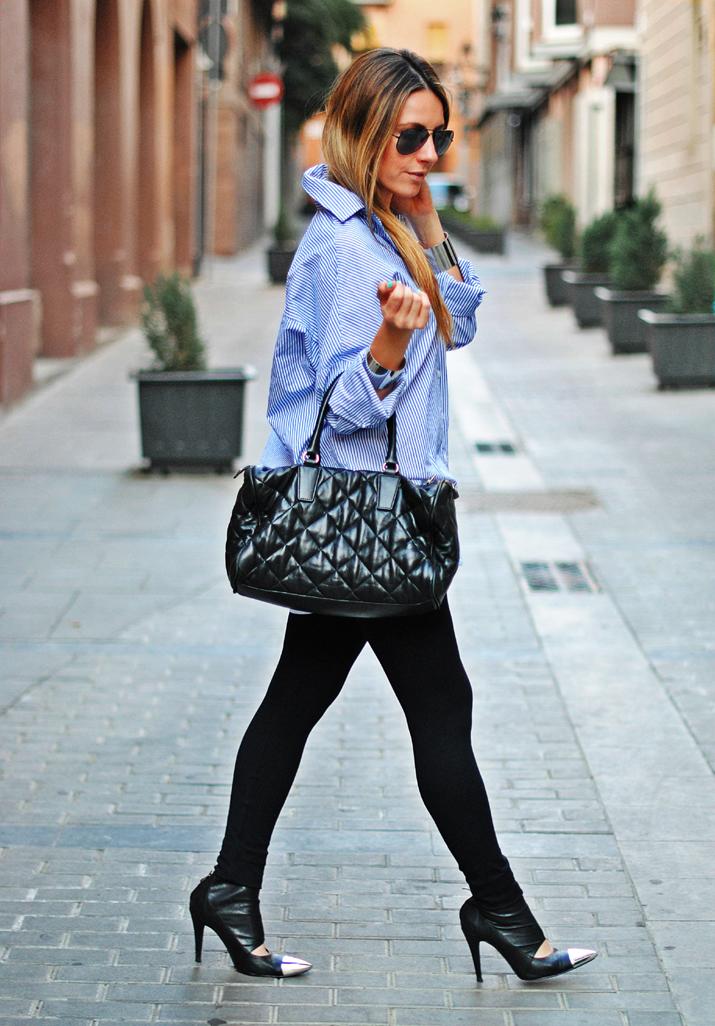 Boyfriend shirt style by Mónica Sors