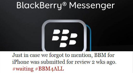 Aplikasi BlackBerry: BBM for iOS sedang dalam Verifikasi