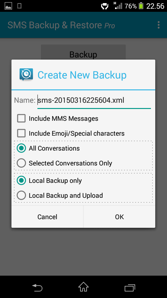 SMS Backup & Restore Pro Full Version