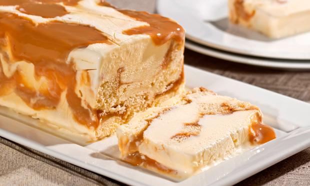 Receita de Pavê bem casado com sorvete e doce de leite