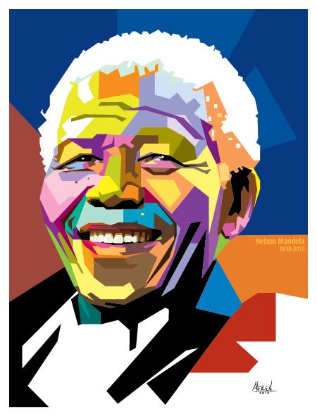 Nelson Mandela WPAP  Vector Style