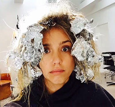 Jessica Alba showed her new hair color