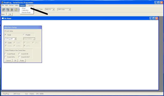 подключен программатор.