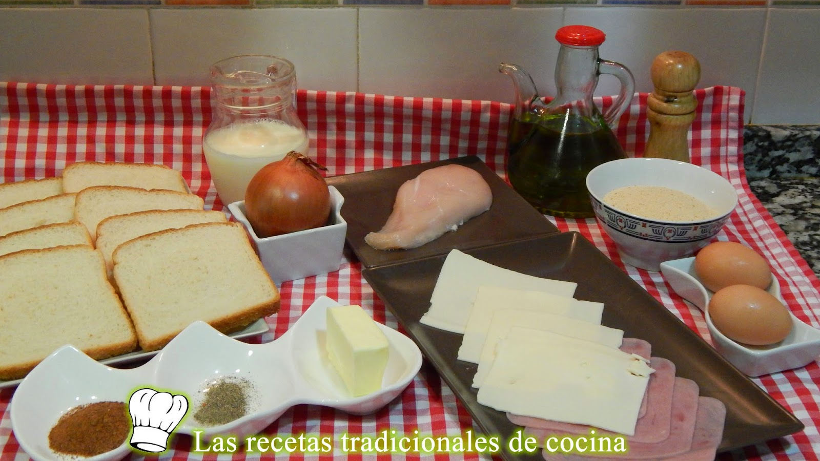 receta del Croque monsieur o sandwich Monte cristo